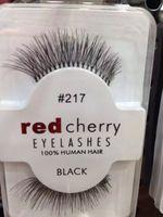 Wholesale Red cherry false eyelashes handmade natural long thick mink fur soft human hair eye lashes for women make up jy