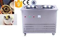 Wholesale thailand fry ice cream machine ice rream machine flat ice cream Model CH F06 Fried roll machine
