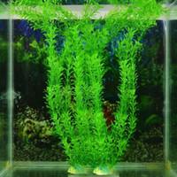 Пластиковые сногсшибательные зеленые искусственные пластиковые травы рыбы танк завод воды аквариум декор цветок бонсай дома сад цветочные аксессуары
