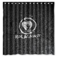 bath groups - Rise Against Rock Hardcore Group Logo Pattern Custom x cm Waterproof Fabric Fashion Bath Shower Curtain