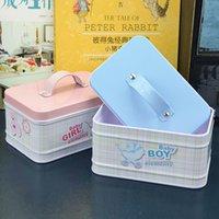 baby food tin - Baby element rabbit wedding customised tin gift box colorful tea caddy tiny storage boxes