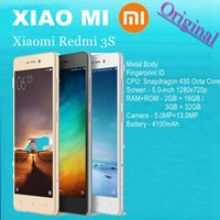 achat en gros de xiaomi 32gb-Original Xiaomi Redmi 3S Premier Pro 2GB / 3GB RAM 16GB / 32GB ROM Mobile 4100mAh ID d'empreintes digitales Snapdragon 430 Octa Core 5