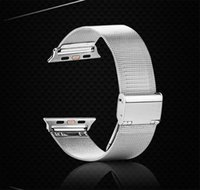 Wholesale Apple watch strap motion Milanese Loop style Stainless steel Reticular Metal Watch strap mm mm Free Delivery