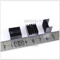 Wholesale mm Black Anodized Extrusion Aluminum Heatsink TO220 TO220 heatsink aluminum heatsink material
