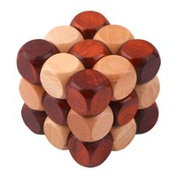 Wholesale Kongming Luban Wooden Wood Lock Puzzle Toy Cube Brain Teaser Game Gift New Hot