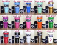 Wholesale New oz Custom Yeti Rambler Tumbler Cup Yeti Tumbler Stainless Steel Tumbler Double Wall Vacuum Insulated Cup Travel Mug IN STOCK