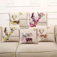 Wholesale Female Sika Deer Sen pastoral sofa cushion pillow pillow cushion cotton nap nap pillow ML82
