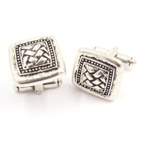 ancient greece jewelry - Mens Jewelry Cuff Links The quality of ancient Greece Vintage square design Cufflinks Cuff Links business men cuff links G XK