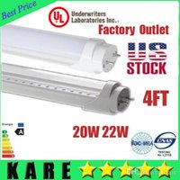 Cheap X25 In us stock LED T8 Tube 4ft 18W 20w 22W SMD 2835 Light Lamp Bulbs 4 feet 1200mm tubes 85-265V led fluorescent lamp 3 year warranty