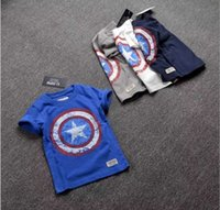 Wholesale Marvel hero Tee boys short sleeve T shirt summer shirt school boy for years old CM