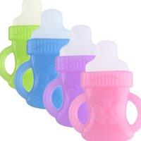 Wholesale Baby gum Baby teeth stick Neonatal molar training device bottle gum biting music toys Food grade liquid silica gel