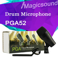 bass drum microphone - PGA52 Professional Kick Drum Bass Instrument Dynamic Microphone PGA Sound System For Stage Show Studio PGA New Boxed