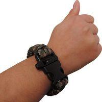 Wholesale 100pcs Survival Bracelets Custom Bracelet Paracord with Whistle Wristband Emergency Wristband