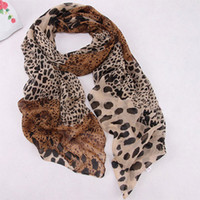Wholesale Noble Fashion Women s Long Soft Wrap Lady Shawl Silk Scarf Scarf Animal Print Leopard Chiffon Shawl Scarves and Stoles Scarf
