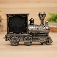 Wholesale 2015 New Antique Train head Alarm Clock Home fashion Creative cartoon Student Gift Hot Sell