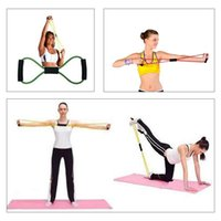 Wholesale Fitness Body Building Resistance Bands Yoga Strap Belt Characters Pull Rope Pilates Chest Expander Yoga Supplies H14102