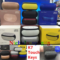 best wireless stereo speakers - K7 Touch Keys NFC Best Stereo Subwoofer Mini Protable Bluetooth Wireless Speakers Mini Speakers TF Card U disk MP3 Player VS K1 K3 K5 K8 K9