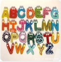 large wooden letters - Refrigerator refrigerator large wooden letter early supplies a pack of yuan per piece g