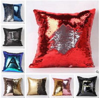Wholesale Double Sequins Pillow Case Colors Xmas Mermaid Bright Sequin Pillow Sequin Reversible Christmas Pillows Home Decorative Pillow Covers
