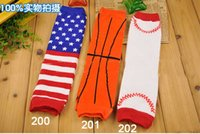 Wholesale World Cup Baby Leg Warmer Football Basketball Baseball Children kids Leg Warmers Tights American Flag Adult Arm warmers Pairs