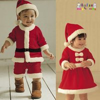 Wholesale Christmas clothing boys and girls Christmas performance clothing children s Christmas costumes Christmas performance suits Santa Claus suit