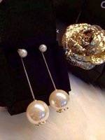 Wholesale Europe s top high quality pearl pendant long brand famous woman Earrings for women and gril
