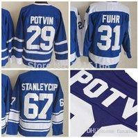 best grants - 2016 Wholesales Lowest Price Grant Fuhr Jersey Stanleycup Ice Hockey Jerseys Blue Felix Potvin Jersey Best Quality Men s