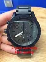 Wholesale New Chrono All Gold Chronograph Mens Watch A083 Watch original brand Black bracelet NO