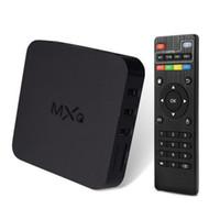 Wholesale OTT TV Box MXQ Andriod TV BOX Amlogic S805 Quad Core G G Airplay TV Channels Program Media Player Kodi16 Wifi TV Receiver MXQ M10
