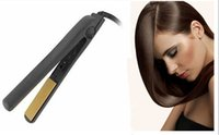 Wholesale Hot BLACK Hairstyling Flat Iron with Retail Box hair straightener US plug version high quality