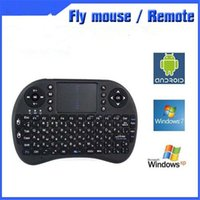 Wholesale Fly Mouse Keyboard Remote Controlers I8 G Wireless Universal Size MM Black White