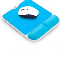 Wholesale Computers Accessories Ergonomic Mouse Pads Slow Rebound Memory Cotton Slip Pad Mouse Hand Wrist Rests Box Packaging