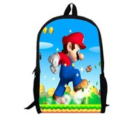 Wholesale Super Mario Backpack Cartoon and durable used for all different ages HD Printed for students new style