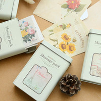 Wholesale Message pack Stick Sewing in Vintage tin box for Wedding party invitation postcard Thanks stickers Gift zakka