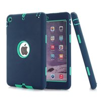 abs plastic safe - HOT For iPad mini Retina Kids Safe Armor Shockproof Heavy Duty Silicone Hard Case Cover free Screen protector film stylus