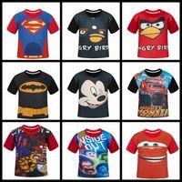 angry t shirt - Angry Bird T shirts Cartoon baby boy clothes TMNT Baby T shirts Micky Short Sleeve Kids Summer T shirts Cartoon Tees cm HHA915