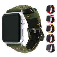 Wholesale Apple Watch Bands Genuine Leather Strap Watch Bracelets for iWatch mm mm with Stainless Steel Buckle
