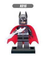 batman wings - X106 Building Blocks Super Heroes Avengers Minifigures Batman With WING Red Cloak Bruce Wayne Sets Model Kids Bricks Mini Figures Toys Gifts