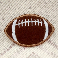 Patches baby decorating games - American Football Rugby Ball Gridiron Embroidered cloth Applique Iron on Patch Game Sports Gift baby Decorate Individuality pc
