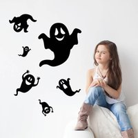 bedroom set stores - 6pcs set Halloween Funny Ghost Wall Stickers Removable Halloween Quote PVC Wall Decal Sofa Bedroom Decor Bayby Room Home Store Wallpaper