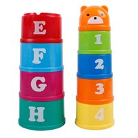 Wholesale Children s Interesting Upon Layer Cup Early Learning Educational Baby Stacked Layers Develop Intelligence Hands And Feet Coordination