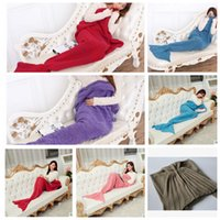 Wholesale Adult Mermaid Tail Blankets Mermaid Tail Sleeping Bags Cocoon Mattress Knit Sofa Blankets Handmade Living Room Sleeping Bag X95cm KKA684
