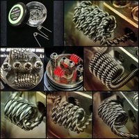 Wholesale DHL tiger wire twisted wire Fused clapton coils Hive premade wrap wires Alien Mix twisted Quad Tiger Heating Resistance coils for Vape rda