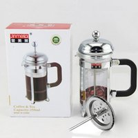 baskets retail - 2016 New French press coffee and tea maker French filter coffee press plunger with stainless steel filter portable with retail box