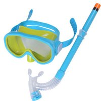 Wholesale New Arrival PVC Swimming Scuba Anti Fog Goggles Mask Snorkel Set Diving glasses ZD084B