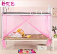 Wholesale 2016 NEW Mosquito Net Bug Insect Repeller Box Shape Travel Camping Home Single Double Bed high quality single door
