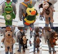 backpack models - Lovely NiCi cartoon plush toys kids animal backpacks baby school bags models stock