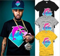 animal diamonds - Hip Hop Men T shirts Summer Plus Size Diamond Dolphins Printed T shirts Street Style Sport Mens Casual Short Sleeve T Shirts SF