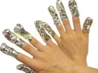 art paper products - 100PCS PACK Foil paper soak off gel Aluminum Foil Paper with cutton For UV Gel Wraps Remove gel nail art products X066