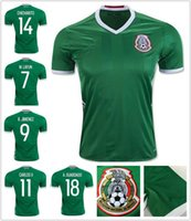 Wholesale thai quality new Season mexico home green shirts CHICHARITO A GUARDADO M LAYUN custom soccer Jerseys